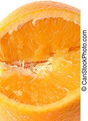navel orange macro - navel orange detail macro lens
