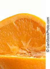 navel orange macro - navel orange detail room for copy