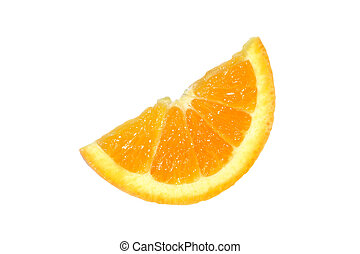 Navel Orange Slice - A slice of a Navel orange isolated on...