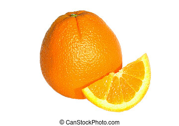 Navel Oranges - Navel oranges isolated on a white...