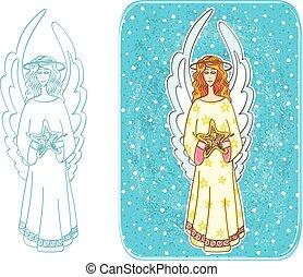 navidad, ángel