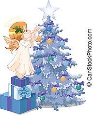 navidad, ángel, lindo