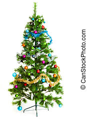 navidad, árbol.