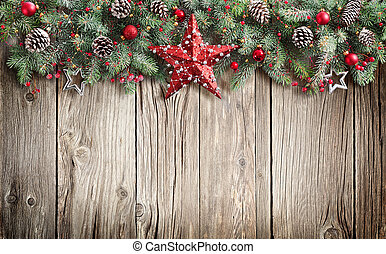 navidad, abeto, adornado, árbol