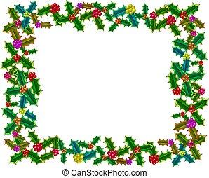 navidad, acebo, frontera