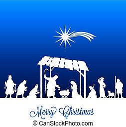 navidad, advenimiento, tarjeta de felicitación