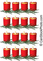 navidad, advenimiento, velas