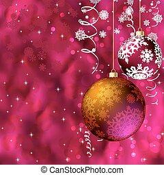navidad, alegre, card.