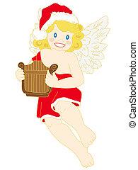 navidad, angel.