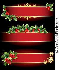 navidad, banderas