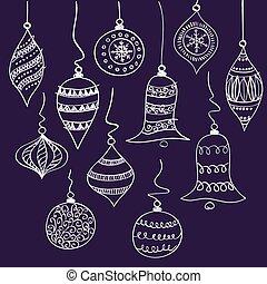 navidad blanca, campanas