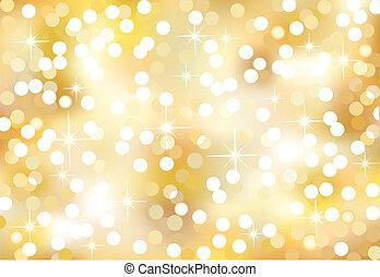 navidad, brillante, luces