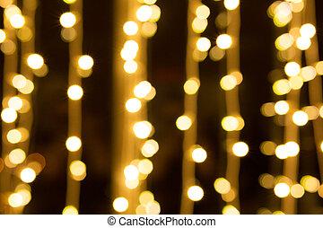 navidad, brillo, dorado, luces, plano de fondo