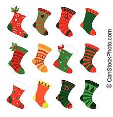 navidad, calcetines