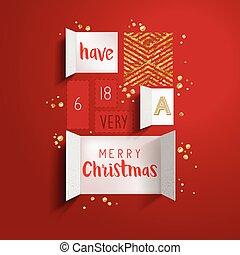 navidad, calendario de advenimiento