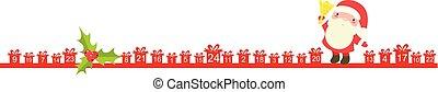 navidad, calendario de advenimiento, con, santa claus