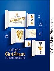 navidad, calendario de advenimiento, puertas