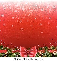 navidad, cartel, con, frontera