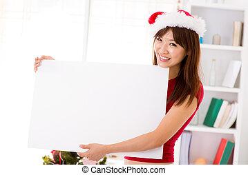 navidad, cartelera, señal