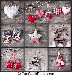 navidad, collage