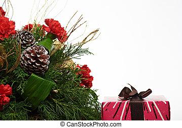 navidad, colorido, caja