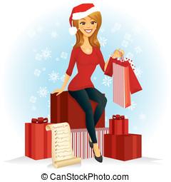 navidad, comprador