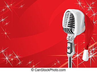 navidad, concierto, diseño, (vector)
