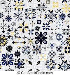 navidad, copos de nieve, patrón