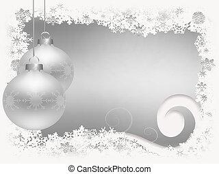 navidad, copos de nieve