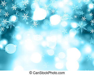 navidad, copos de nieve, y, estrellas