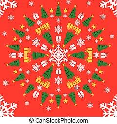 navidad, dibujo de círculo