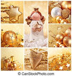 navidad, dorado