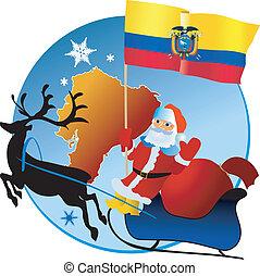 navidad, ecuador!, alegre