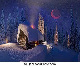 navidad, en, el, carpathians