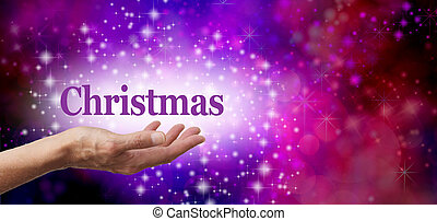 navidad, en, el, palma, de, su, mano