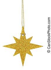 navidad, estrella, blanco