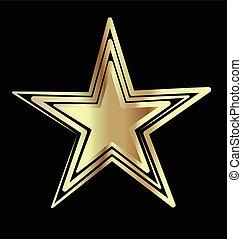 navidad, estrella del oro