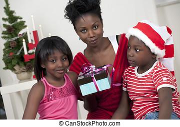 navidad, familia