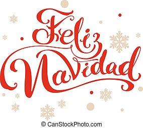navidad, feliz, allegro, spagnolo, traduzione, natale