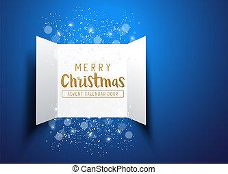 navidad feliz, calendario de advenimiento, puertas