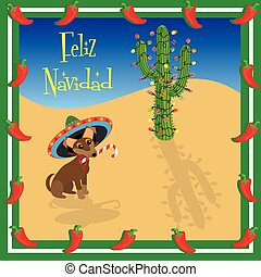 navidad, feliz, chihuahua