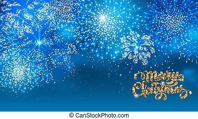 navidad, fuegos artificiales