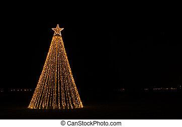 navidad, iluminación