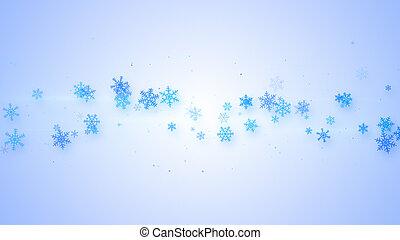 navidad, ilustración, con, copos de nieve