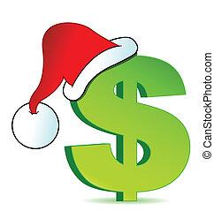 navidad, ilustración, gastos
