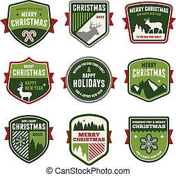 navidad, insignias