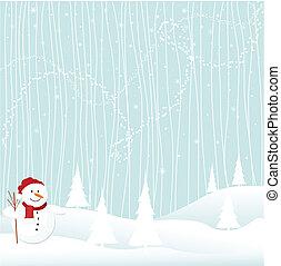 navidad, invierno, alegre
