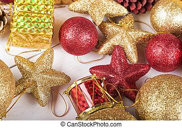 navidad, juguetes, plano de fondo