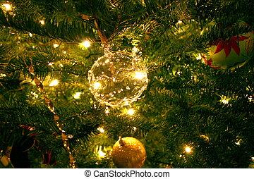 navidad, luz tenue