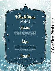 navidad, menú, diseño